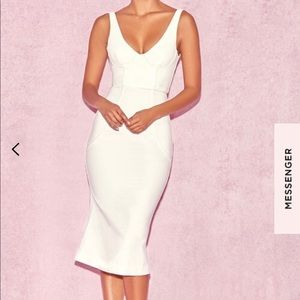White Piped Dress NWT